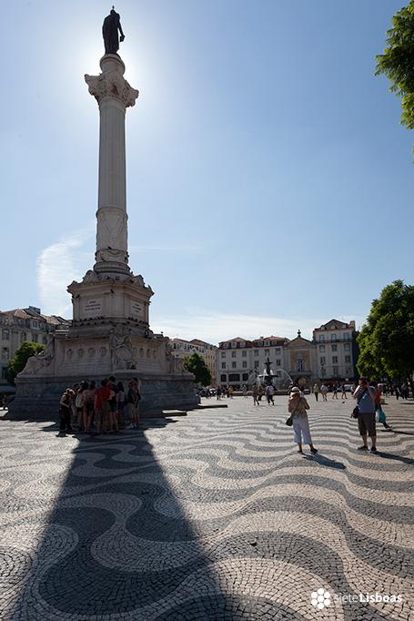 Imagen de la praça D. Pedro IV realizada por el fotógrafo Diego Opazo, cedida a sieteLisboas.
