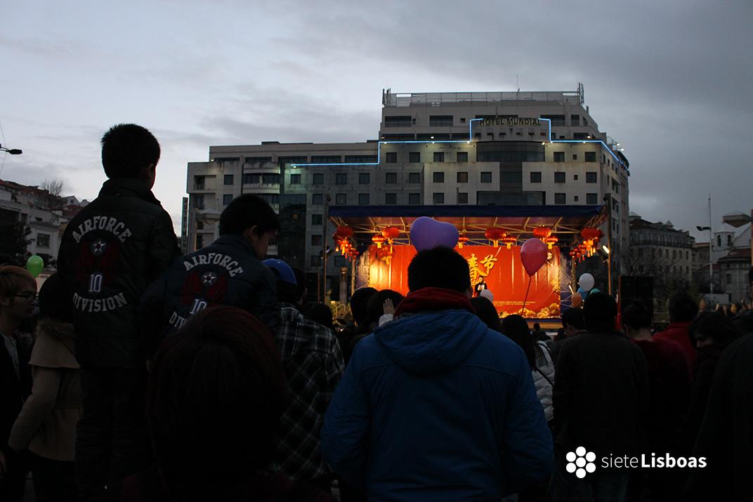Praça de Martim Moniz durante la celebración del Año Nuevo Chino, en 2014. Fotografía de sieteLisboas.