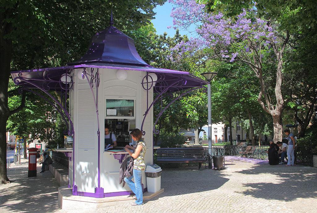Fotografía del quiosco de la plaza de las Flores, cedida por Quiosques de Refrescos a sieteLisboas.