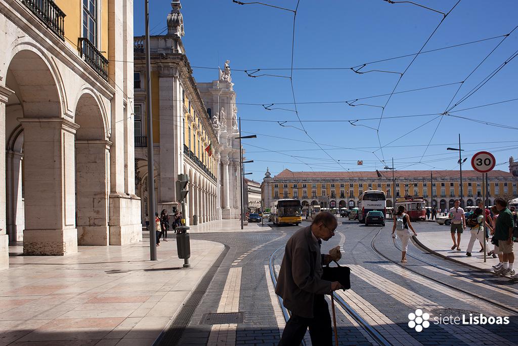 Imagen de la praça do Comércio tomada por el fotógrafo Diego Opazo, cedida a sieteLisboas.