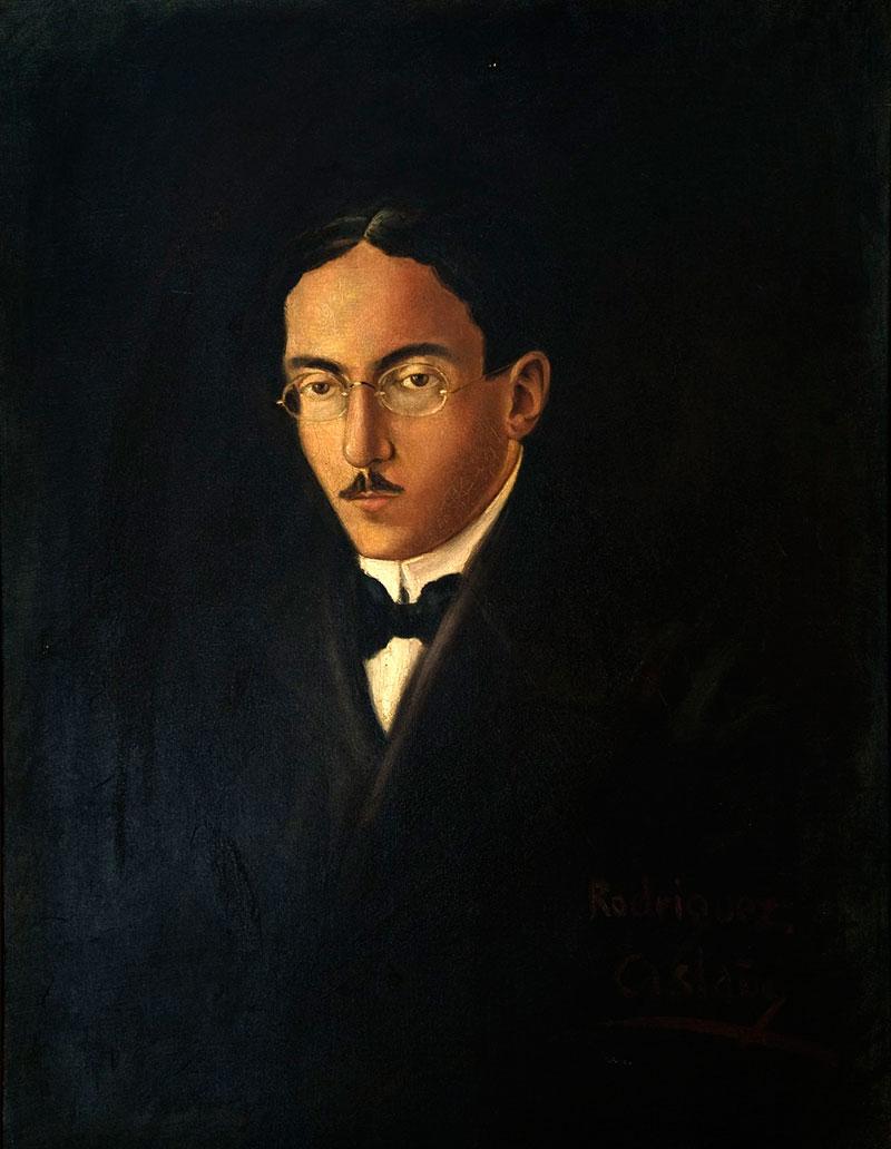 Imagen del Retrato de Fernando Pessoa, de Rodriguez Castañé, cedida por la Casa Fernando Pessoa (CFP) a sieteLisboas.
