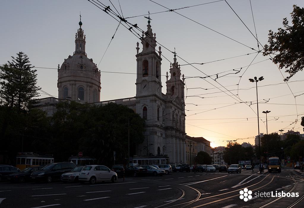 Imagen de la 'Basílica da Estrela' tomada por el fotógrafo Diego Opazo y cedida a sieteLisboas.