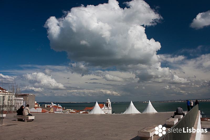 Imagen tomada por José Luis Albuquerque desde el 'Miradouro das Portas do Sol', cedida a sieteLisboas.