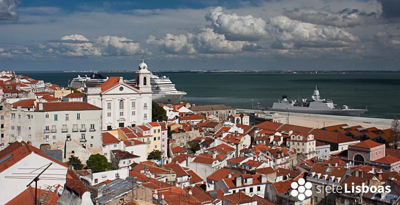 Imagen tomada, desde el 'Miradouro das Portas do Sol', por José Luís Albuquerque y cedida a sieteLisboas.