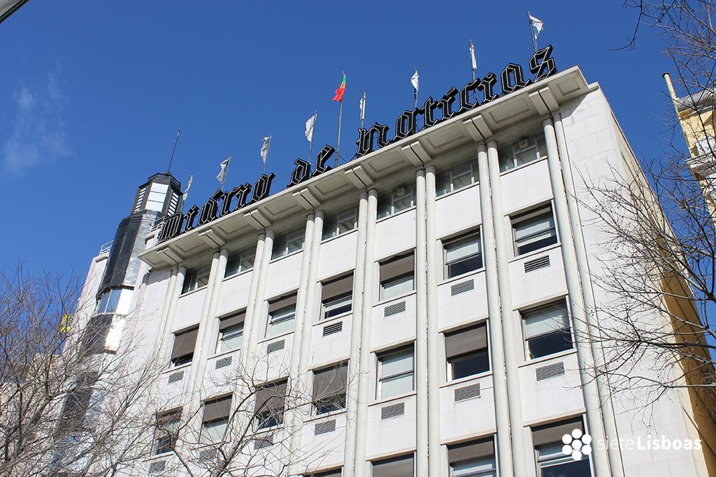 Fotografía del edificio del 'Diário de Notícias' tomada por sieteLisboas.
