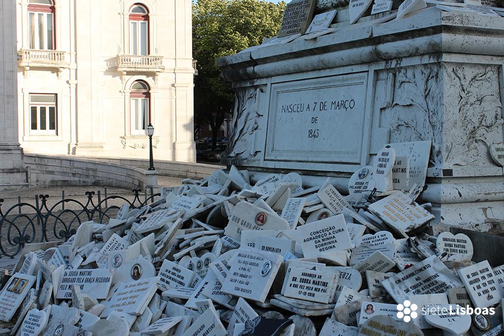 Imagen de la estatua de Sousa Martins tomada por sieteLisboas.
