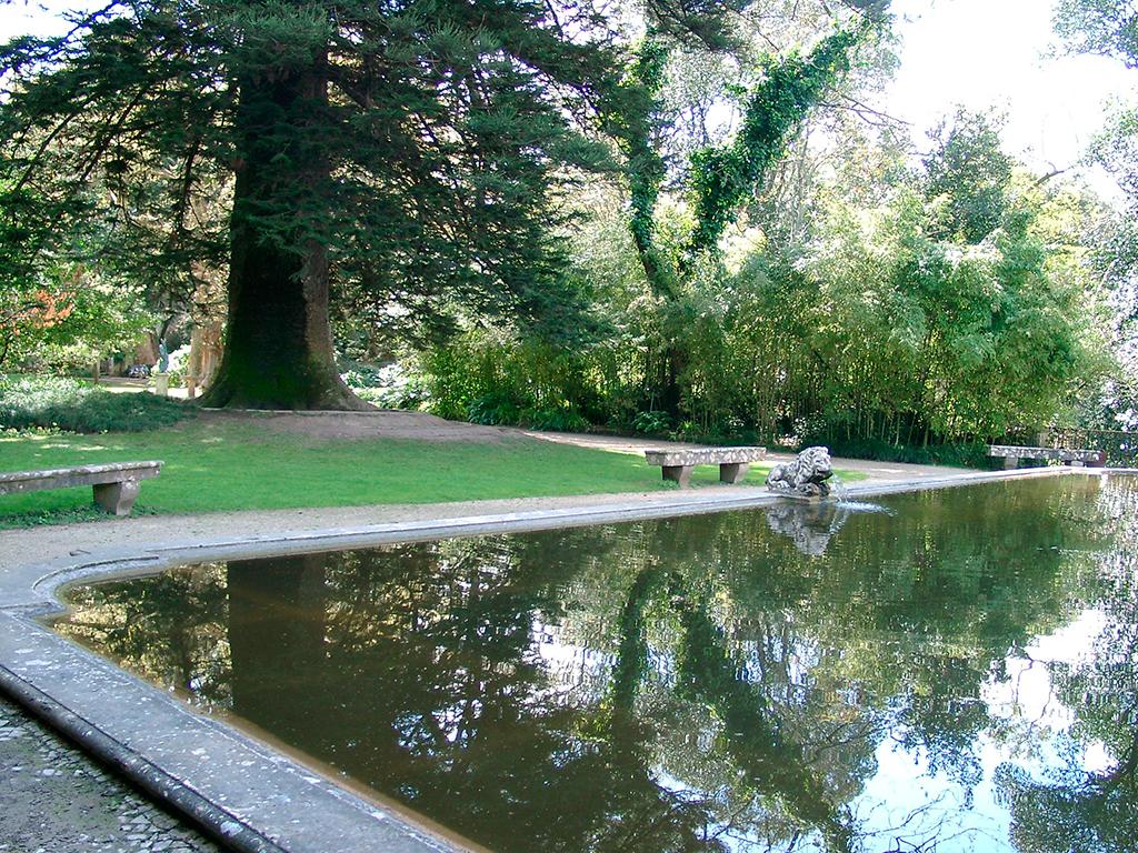 Fotografía del Lago del León del 'Parque Botânico do Monteiro-Mor' cedida por el 'Museu Nacional do Traje' a sieteLisboas.