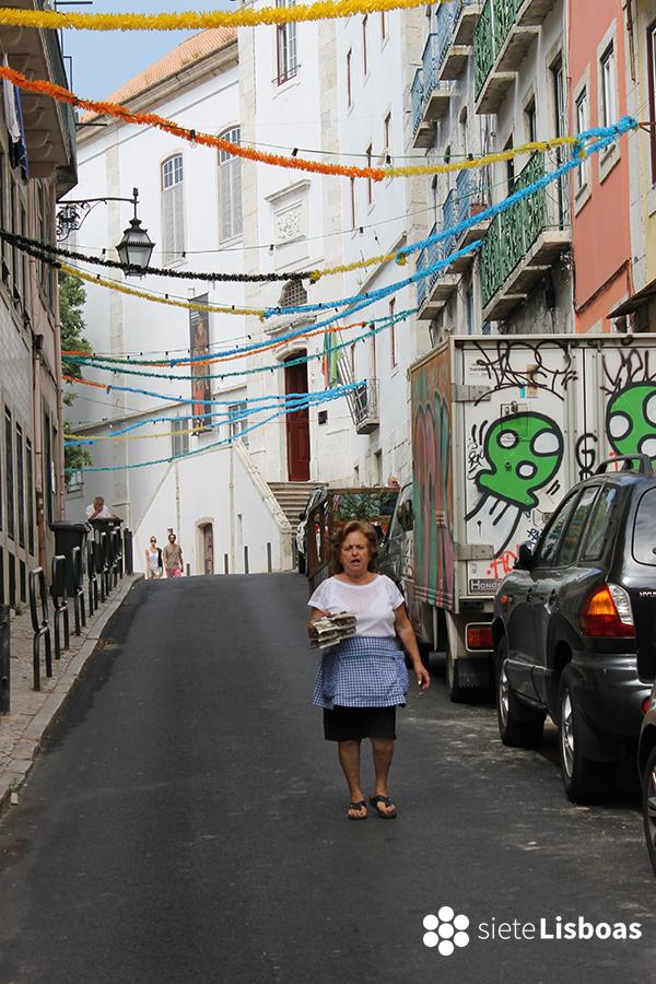 Fotografía de 'Dona Preciosa' en la 'Rua da Esperança' tomada por sieteLisboas.