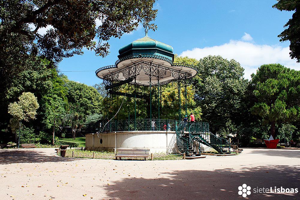 Fotografía del 'Jardim da Estrela' tomada por Cristian Rodríguez, sieteLisboas.