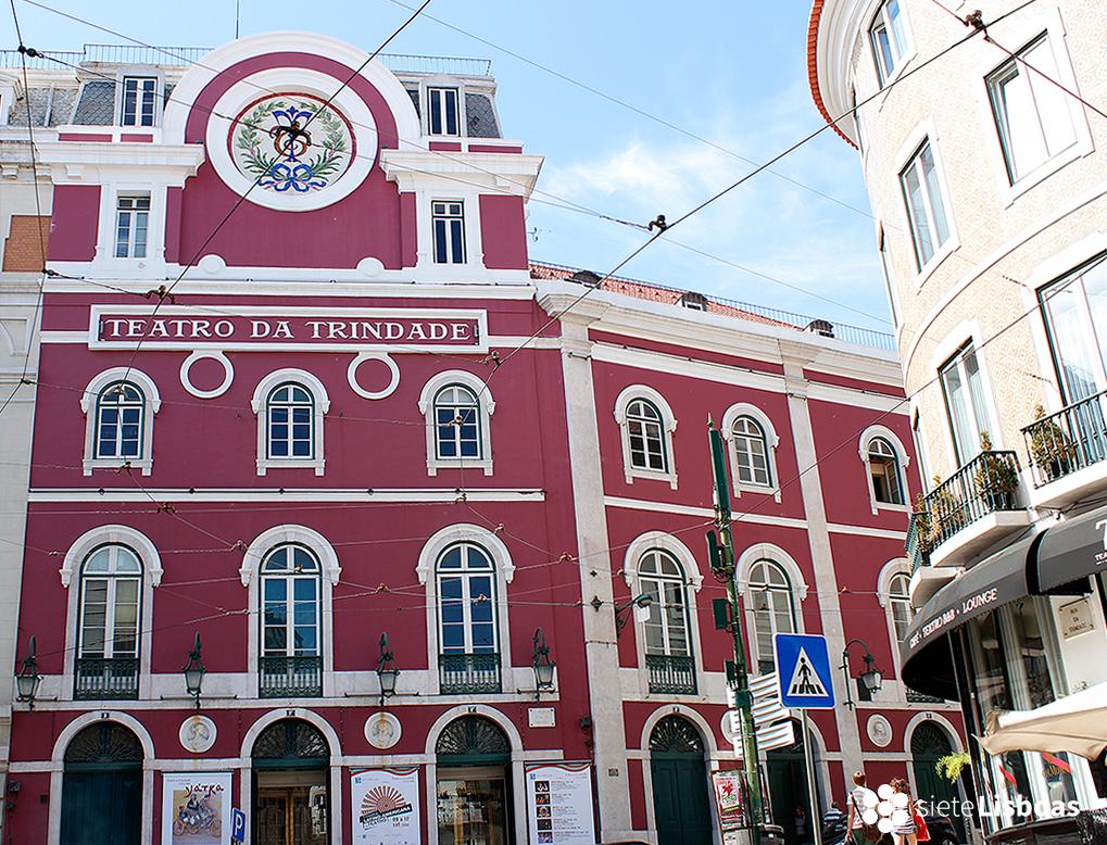 Fotografía del 'Teatro da Trindade' tomada por Cristian Rodríguez, sieteLisboas.