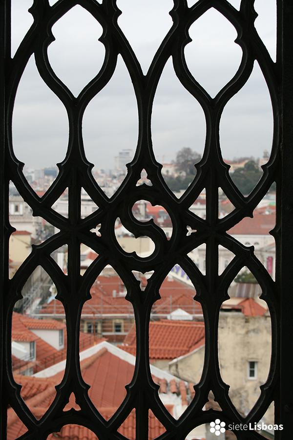 Imagen tomada desde el 'Elevador de Santa Justa' por Marta Tortajada, cedida a sieteLisboas.