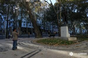 La estatua de Simón Bolívar de la Avenida da Liberdade